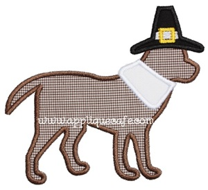 Pilgrim Dog Applique Design