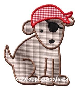Pirate Puppy Applique Design
