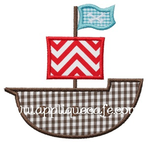 Pirate Ship 2 Applique Design