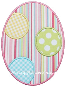 Polka Dot Egg Applique Design