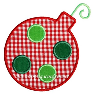 Polka Dot Ornament Applique Design