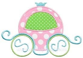 Princess Carriage Applique Design