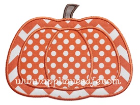 Pumpkin 10 Applique Design
