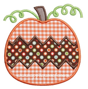 Pumpkin 11 Applique Design