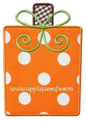 Pumpkin 13 Applique Design