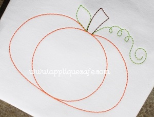 Pumpkin 14 Embroidery Design