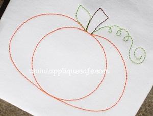 Pumpkin 14 Embroidery Design