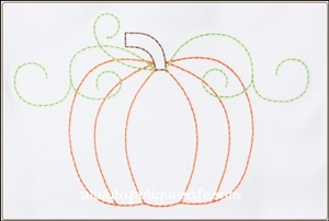 Pumpkin 15 Applique Design