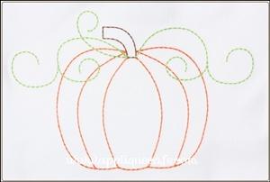 Pumpkin 15 Applique Design
