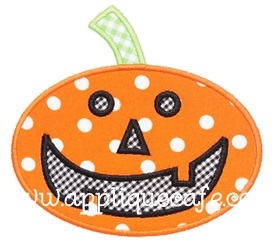 Pumpkin 2 Applique Design