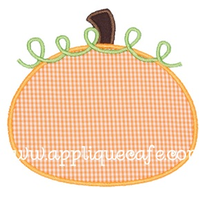 Pumpkin 3 Applique Design