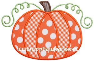 Pumpkin 5 Applique Design