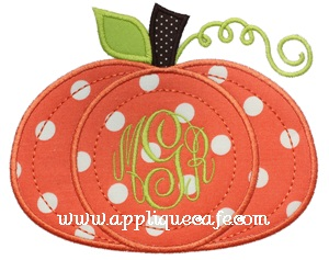 #507 Pumpkin 6 Applique Design