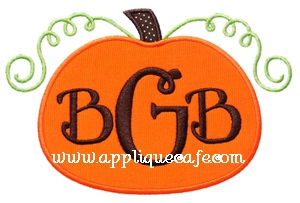 Pumpkin 7 Applique Design