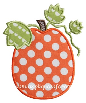 Pumpkin 8 Applique Design
