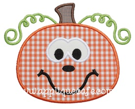 Pumpkin 9 Applique Design
