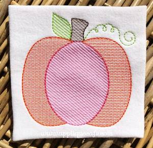 #1056 Pumpkin 16 Embroidery Design