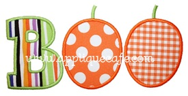 Pumpkin Boo Applique Design