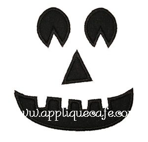 Jack-o-lantern Applique Design