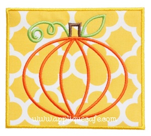 Pumpkin Patch Applique Design