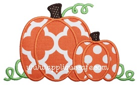 Pumpkins Applique Design