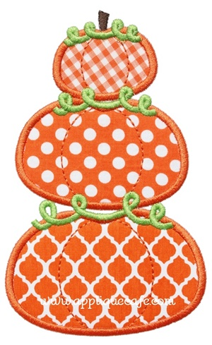 Pumpkin Stack Applique Design