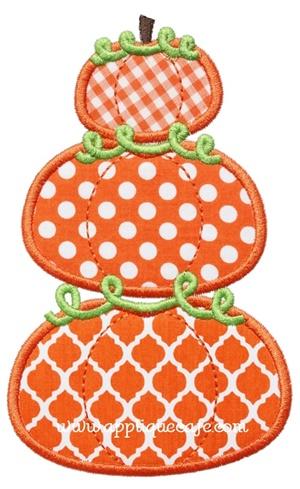 Pumpkin Stack Applique Design