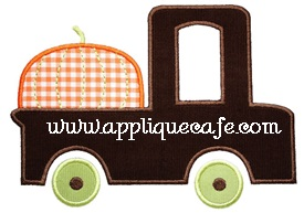 Pumpkin Truck Applique Design