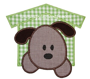 Puppy Patch Applique Design