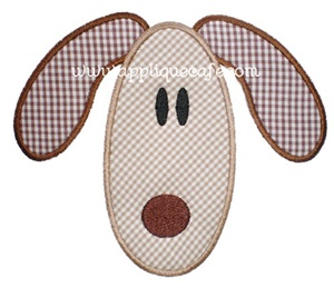Puppy Face Applique Design