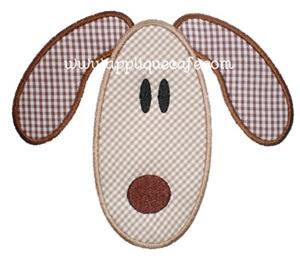 Puppy Face Applique Design