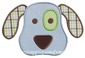 Puppy Face 3 Applique Design