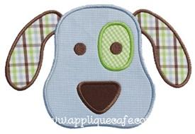 Puppy Face 3 Applique Design