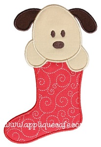 Puppy Stocking Applique Design