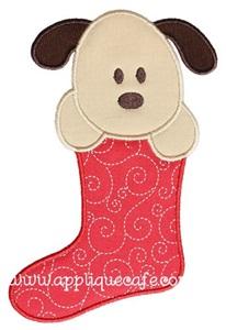Puppy Stocking Applique Design