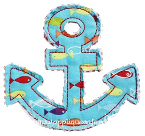 Raggy Anchor Applique Design