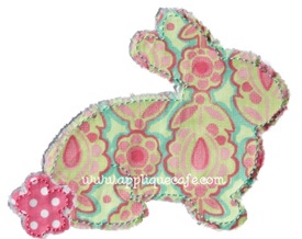 Raggy Bunny Applique Design
