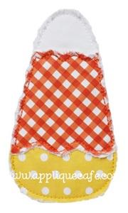 Raggy Candy Corn Applique Design