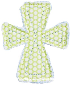 Raggy Cross Applique Design