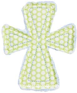 Raggy Cross Applique Design