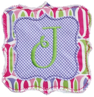 Raggy Double Frame Patch Applique Design