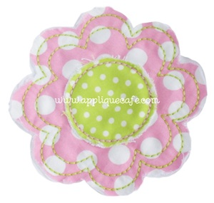 Raggy Flower Applique Design