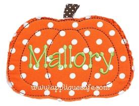Raggy Pumpkin Applique Design