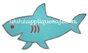 Raggy Shark Applique Design