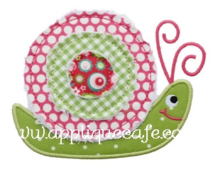 Raggy Snail Applique Design