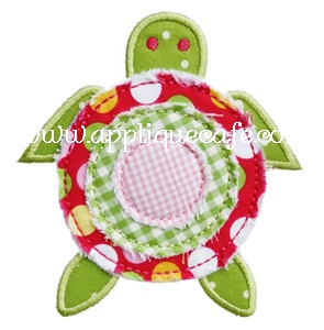 Raggy Turtle Applique Design