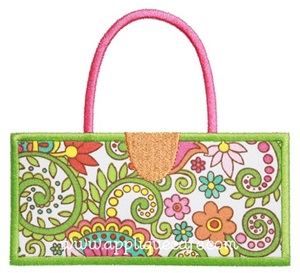 Rectangle Purse Applique Design