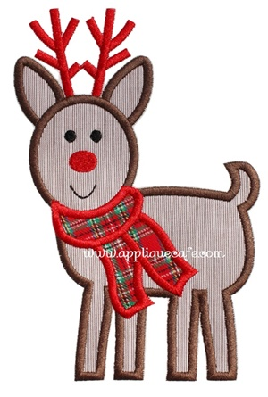 #967 Reindeer 4 Applique Design