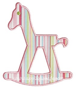 Rocking Horse Applique Design