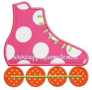 Rollerblade Applique Design